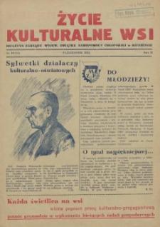 Życie Kulturalne Wsi : biuletyn Zarządu Wojew. Związku Samopomocy Chłopskiej w Szczecinie. R.2, 1954 nr 10