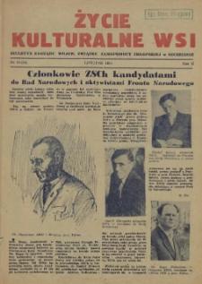 Życie Kulturalne Wsi : biuletyn Zarządu Wojew. Związku Samopomocy Chłopskiej w Szczecinie. R.2, 1954 nr 11