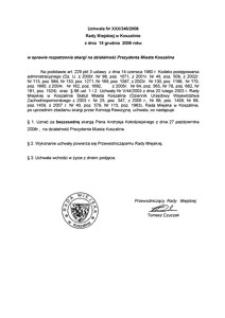 Uchwała Rady Miejskiej w Koszalinie nr XXX/346/2008