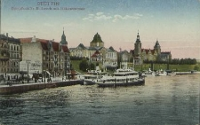 Stettin, Dampfschiffs-Bollwerk mit Hakenterrasse