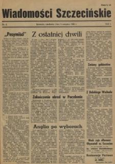 Wiadomości Szczecińskie : biuletyn Urzędu Informacji i Propagandy na Okręg Pomorze Zachodnie. R.1, 1945 nr 6