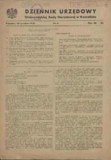 Dziennik Urzędowy Wojewódzkiej Rady Narodowej w Koszalinie. 1950 nr 4