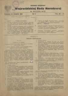 Dziennik Urzędowy Wojewódzkiej Rady Narodowej w Koszalinie. 1952 nr 5