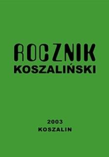 Rocznik Koszaliński. 2003, nr 31