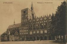 Stralsund, Rathaus u. Nicolaikirche