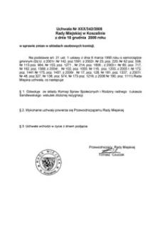 Uchwała Rady Miejskiej w Koszalinie nr XXX/342/2008