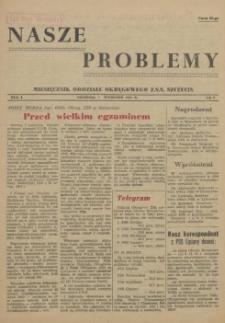 Nasze Problemy : miesięcznik Oddziału Okręgowego Z.S.S. Szczecin. R.1, 1955 nr 2