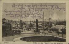 Stettin, Hafen von der Hakenterrasse aus gesehen
