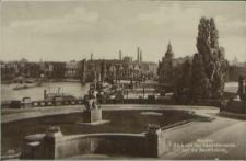 Stettin, Blick von der Hakenterrasse auf die Baumbrücke
