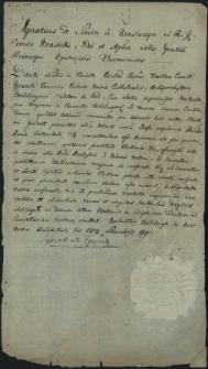 [Pismo Ignacego Krasickiego, biskupa warmińskiego z 28 listopada 1790 r.]
