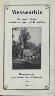 Messenthin : ein kurzer Führer mit Wanderkarte und Textbildern