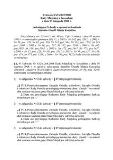 Uchwała Rady Miejskiej w Koszalinie nr XXIX/325/2008