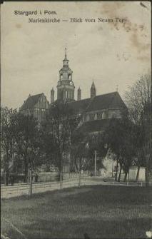 Stargard in Pommern, Marienkirche - Blick vom Neuen Tor