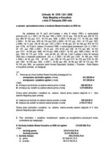 Uchwała Rady Miejskiej w Koszalinie nr XXIX/324/2008