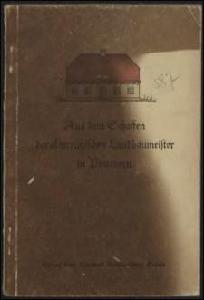 Aus dem Schaffen der altpreussischen Landbaumeister in Pommern