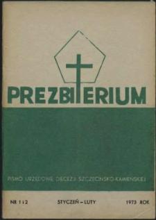 Prezbiterium. 1973 nr 1 i 2