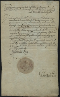 [List Zygmunta III Wazy do Wojciecha Boboli]