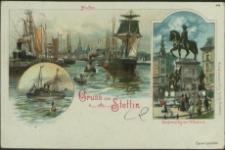 Gruss aus Stettin, Hafen, Denkmal Kaiser Wilhelm I
