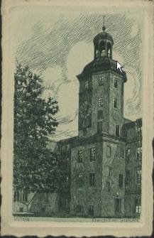 Stettin, Schloss mit Uhrturm