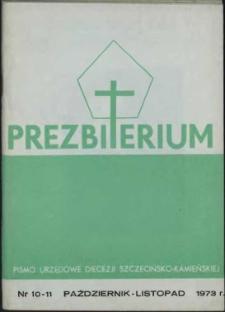 Prezbiterium. 1973 nr 10 i 11