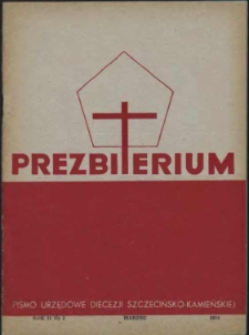 Prezbiterium. 1974 nr 3