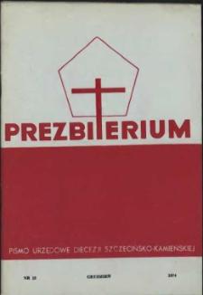 Prezbiterium. 1974 nr 12