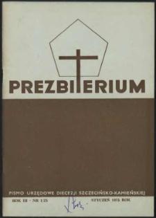Prezbiterium. 1975 nr 1