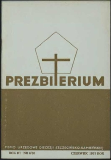 Prezbiterium. 1975 nr 6