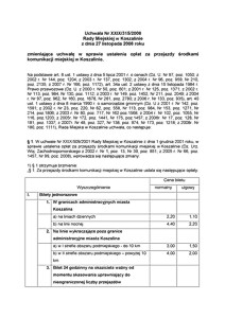 Uchwała Rady Miejskiej w Koszalinie nr XXIX/315/2008