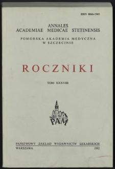 Annales Academiae Medicae Stetinensis = Roczniki Pomorskiej Akademii Medycznej w Szczecinie. 1992, 38
