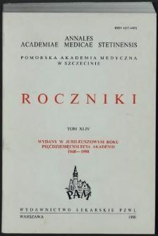 Annales Academiae Medicae Stetinensis = Roczniki Pomorskiej Akademii Medycznej w Szczecinie. 1998, 44