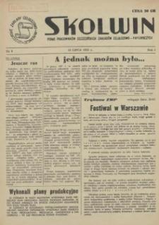 Skolwin : pismo pracowników Szczecińskich Zakładów Celulozowo-Papierniczych. R.1, 1955 nr 6