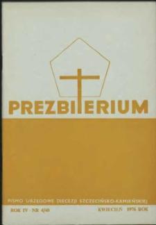 Prezbiterium. 1976 nr 4