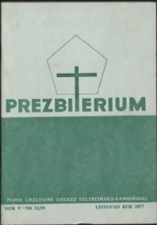 Prezbiterium. 1977 nr 11