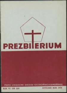 Prezbiterium. 1978 nr 1