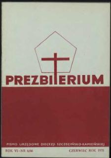 Prezbiterium. 1978 nr 6
