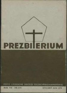 Prezbiterium. 1979 nr 1