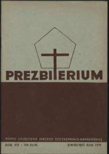 Prezbiterium. 1979 nr 4