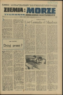 Ziemia i Morze : tygodnik społeczno-kulturalny. R.1, 1956 nr 18