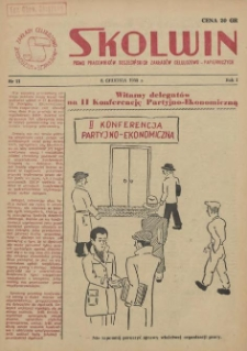 Skolwin : pismo pracowników Szczecińskich Zakładów Celulozowo-Papierniczych. R.1, 1955 nr 11