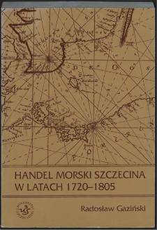 Handel morski Szczecina w latach 1720-1805
