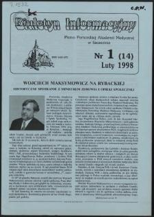 Biuletyn Informacyjny : Pomorska Akademia Medyczna w Szczecinie. Nr 1 (14), Luty 1998