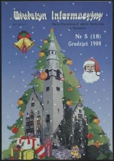 Biuletyn Informacyjny : Pomorska Akademia Medyczna w Szczecinie. Nr 5 (18), grudzień 1998