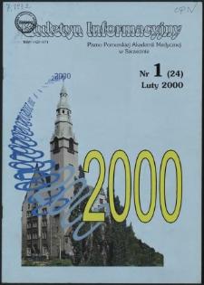 Biuletyn Informacyjny : Pomorska Akademia Medyczna w Szczecinie. Nr 1 (24), Luty 2000