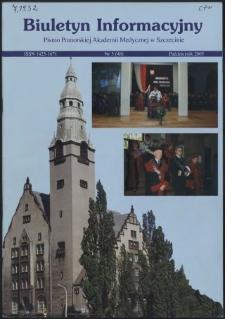 Biuletyn Informacyjny : Pomorska Akademia Medyczna w Szczecinie. Nr 3 (48), Październik 2005