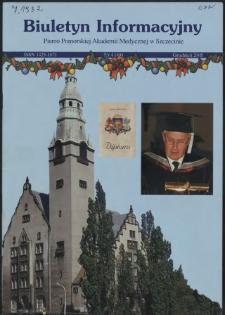 Biuletyn Informacyjny : Pomorska Akademia Medyczna w Szczecinie. Nr 4 (49), Grudzień 2005