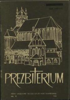 Prezbiterium. 1983 nr 11