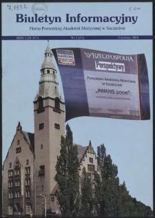 Biuletyn Informacyjny : Pomorska Akademia Medyczna w Szczecinie. Nr 2 (51), Czerwiec 2006