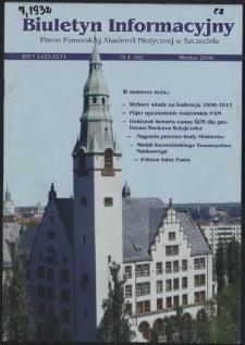 Biuletyn Informacyjny : Pomorska Akademia Medyczna w Szczecinie. Nr 1 (58), Marzec 2008