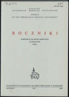 Annales Academiae Medicae Stetinensis = Roczniki Pomorskiej Akademii Medycznej w Szczecinie. 2004, 50, 1